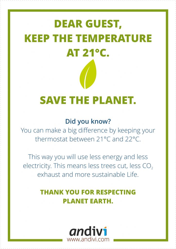 Hotel Thermostat Sticker