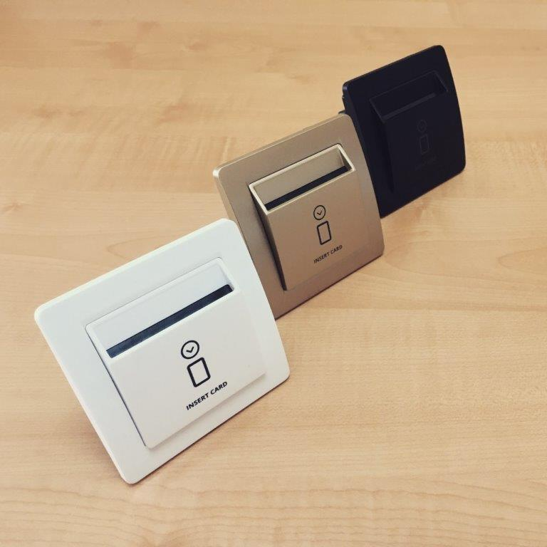 card reader and card holder or energy saving switch