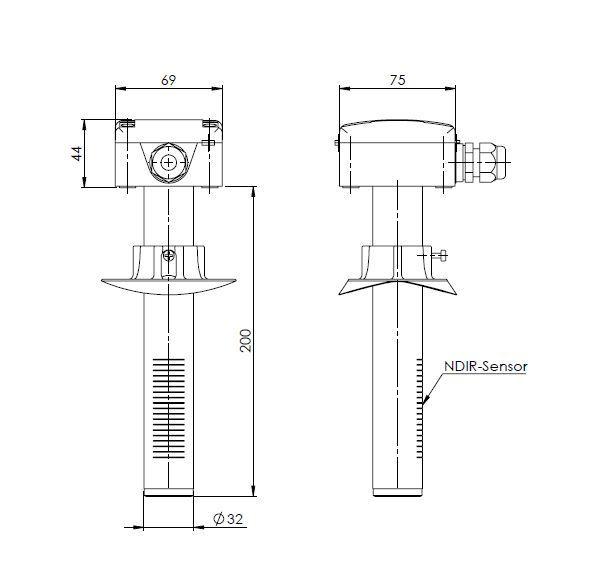 Duct CO2 Sensor ANDKACO2 - 2