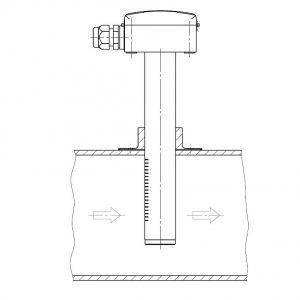 DUCT SENSOR FOR CARBON DIOXIDE MEASUREMENT-ANDKACO2-3