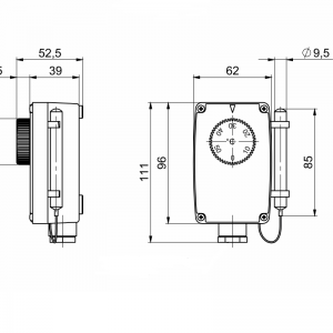 Remote thermostat sensor single level-ANDKTTH1-2