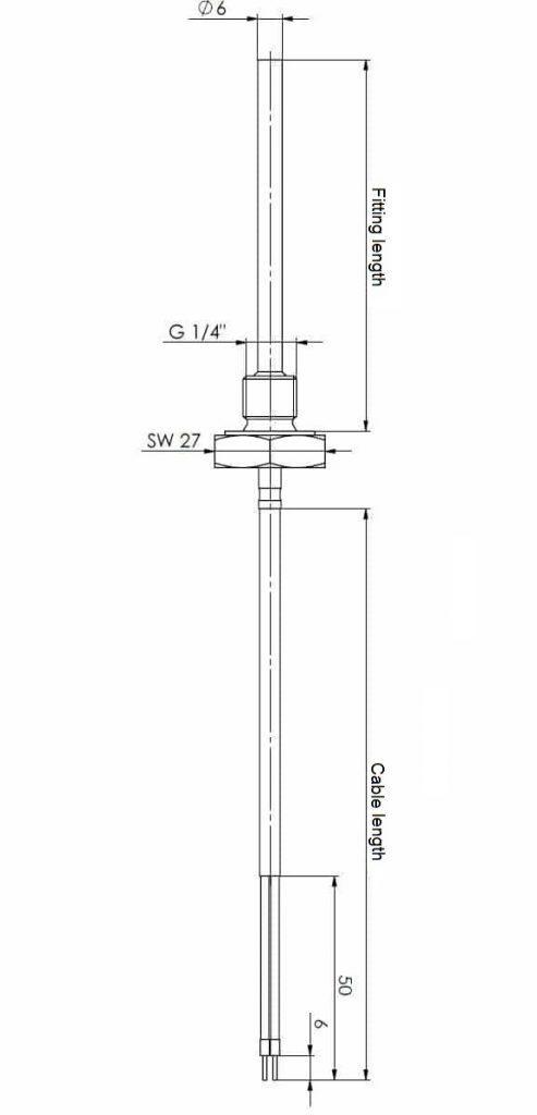 screw-in temperature sensor g1  4 u0026quot