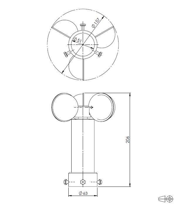 Wind Speed Sensor ANDWM1 - 2