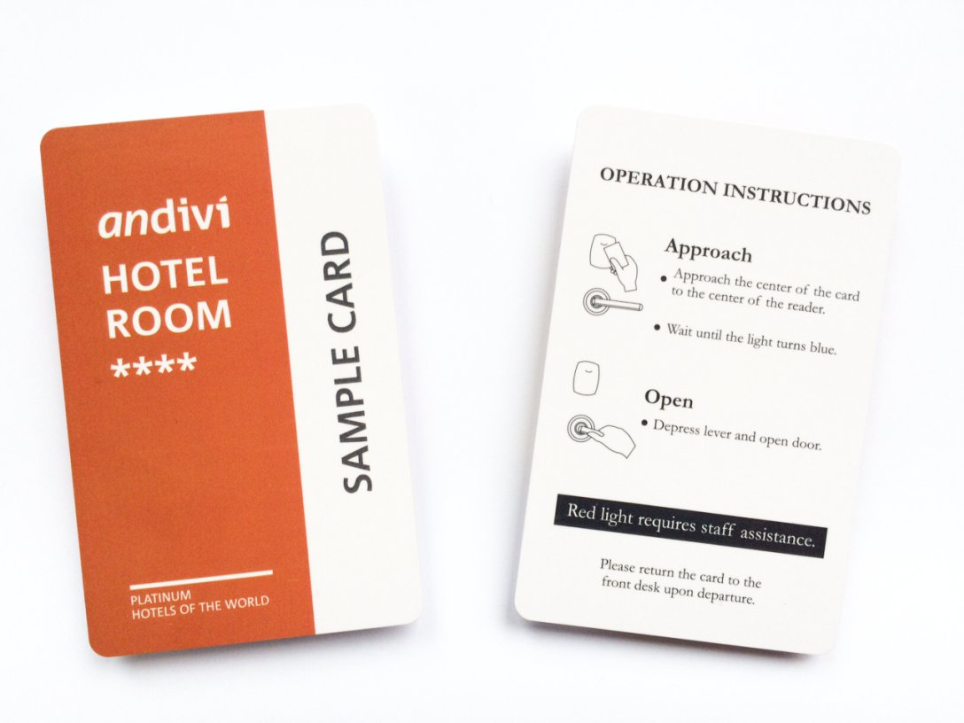 Smart Contactless Hotel Guest Card For Room Access