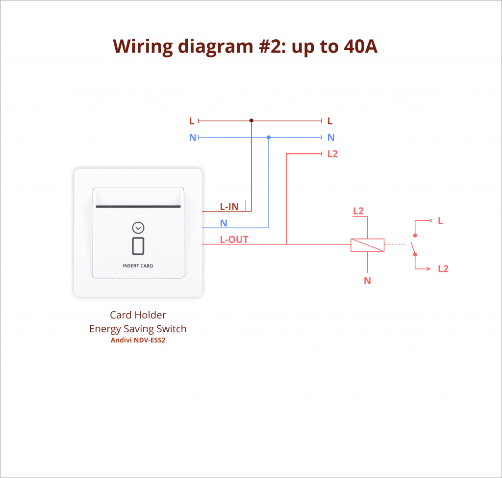 Energy Saving Switch - Example 2 - Wiring Diagram - Andivi