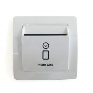 Schalter fur Energieeinsparung-kartenhalter-weiss