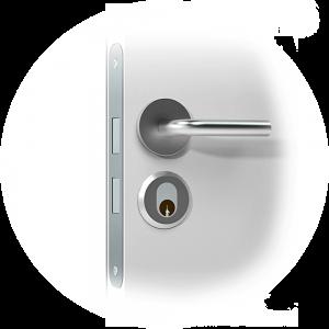 Mortise_cylinder_smart lock door handle-Scandi-2