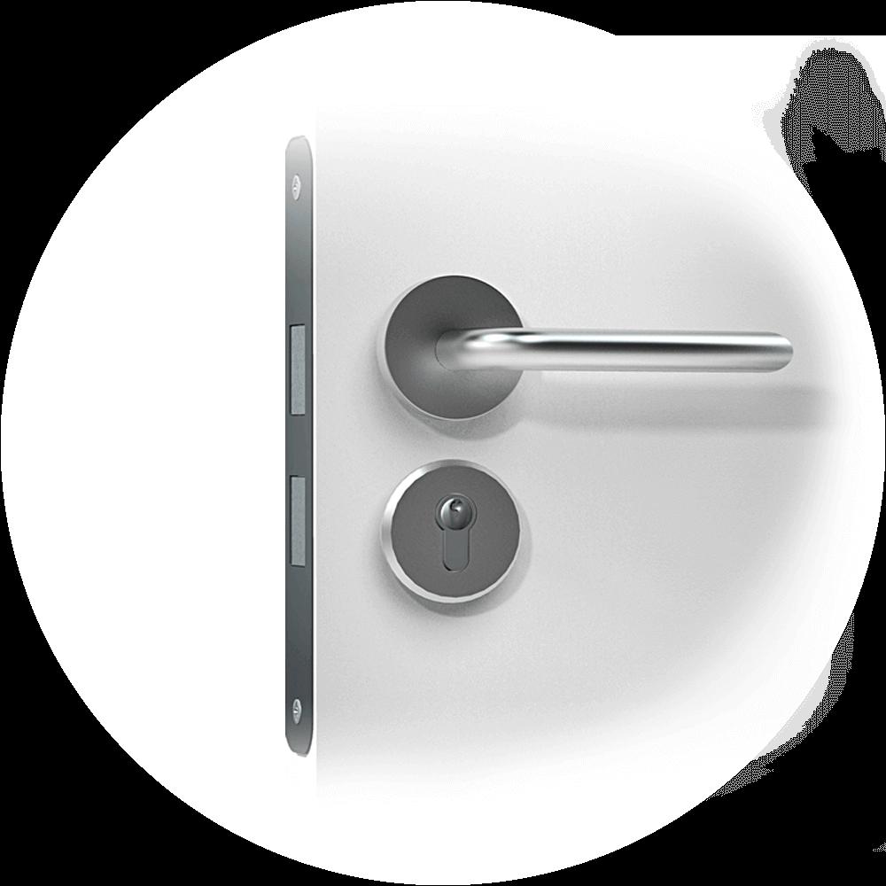 Mortise_cylinder_smart lock door handle_-EURO-2-