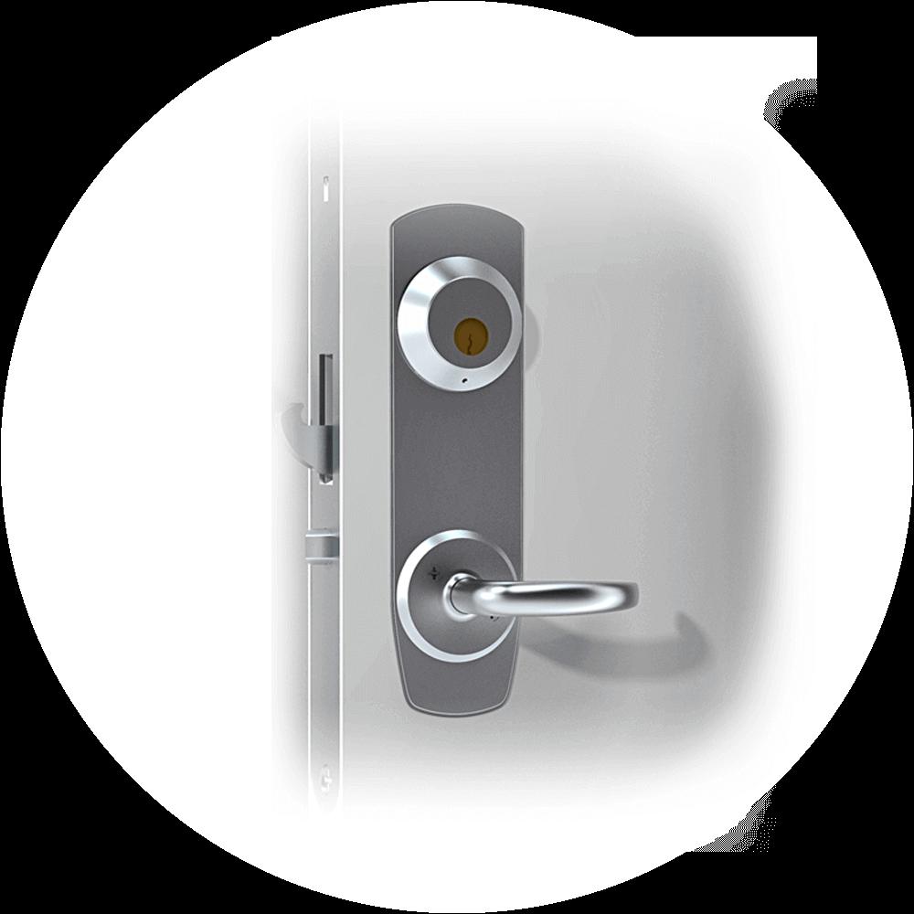 Mortise_cylinder_smart lock door handle_Assa2000-2