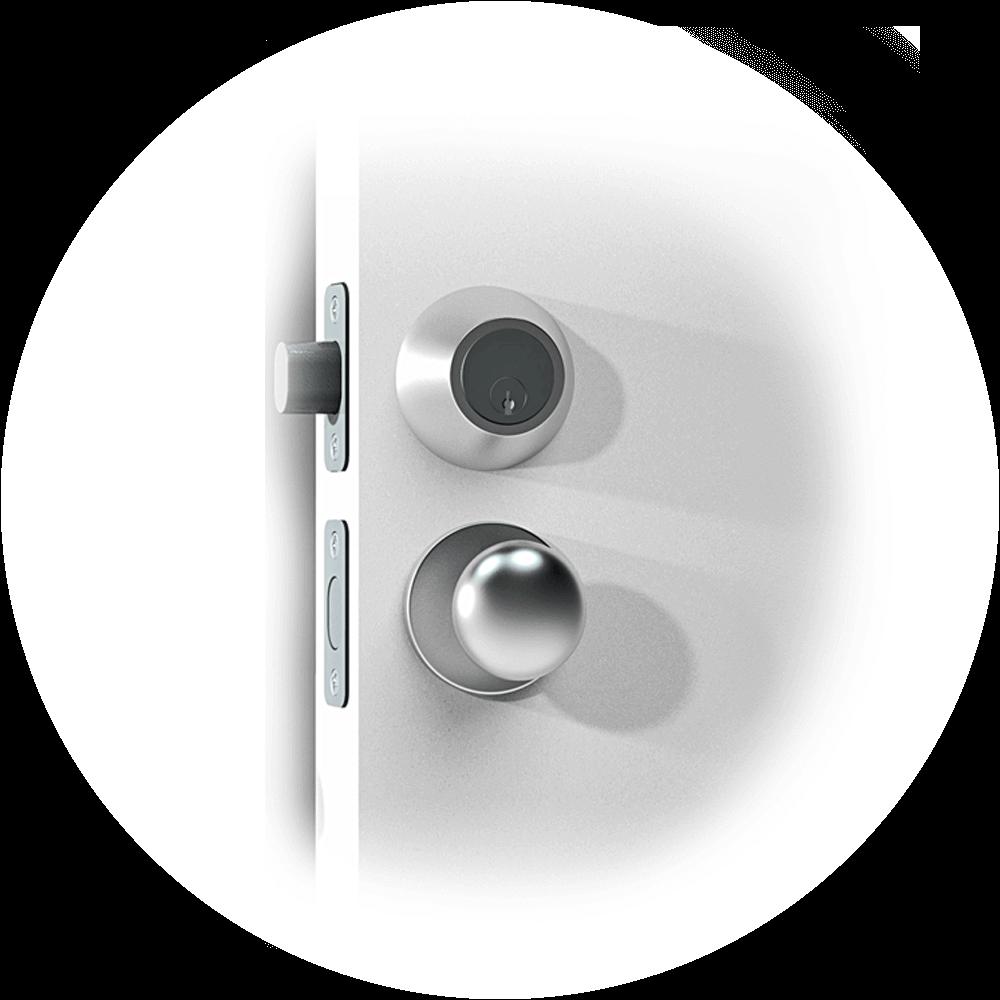 Mortise_smart lock door handle_US-2