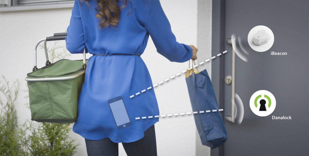 Smart lock-smart phone-entry door