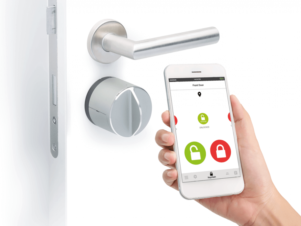 Unlocking with smart phone -Smart door lock - Danalock V3