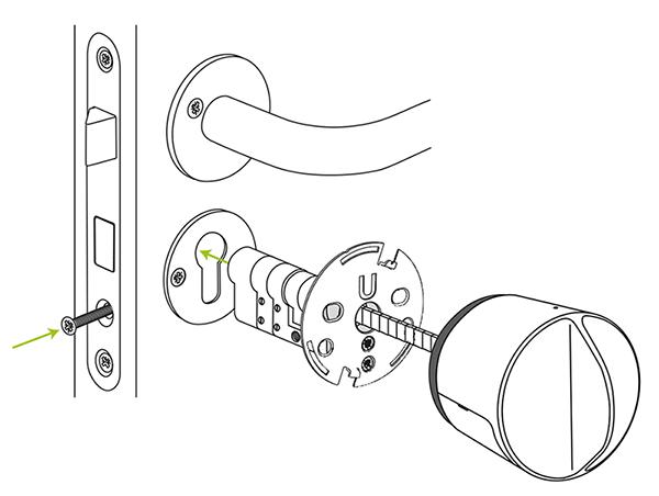 smart lock-mounting