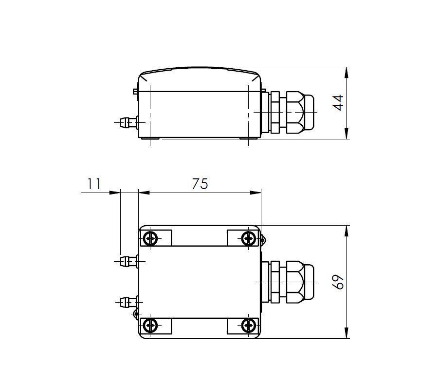 Modbus Differential Pressure Transducer ANDDDM-MD 2