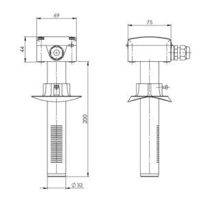 Modbus Duct Air Quality Sensor ANDKALQ-MD 2