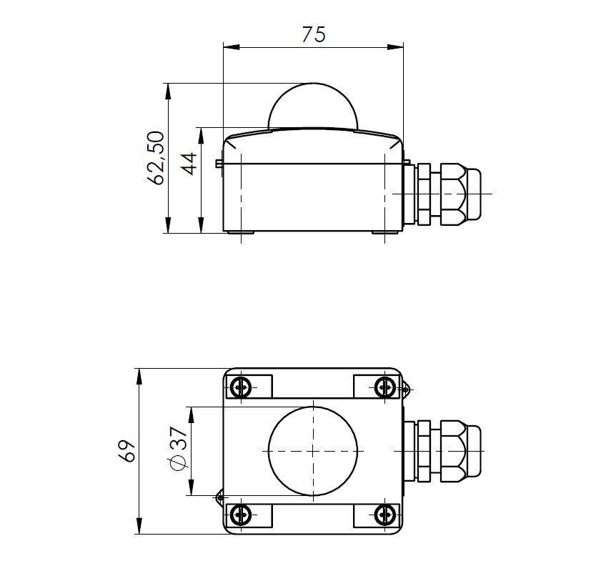 Modbus Outdoor Radiation Sensor ANDASTF-MD 2