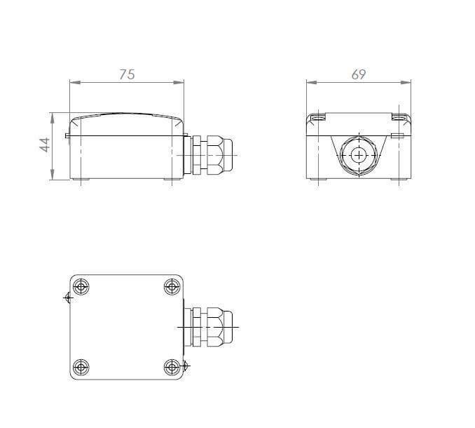 Modbus Outdoor Temperature Sensor ANDAUTF-MD 2