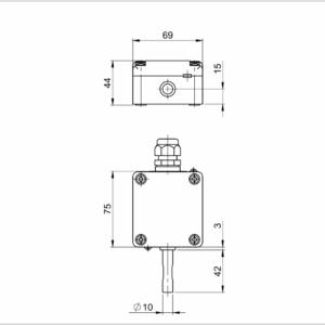 Modbus Outdoor Temperature Sensor with Sun Protection ANDAUTFEXT2-MD 2