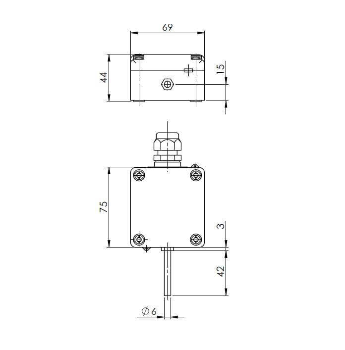 Modbus Outdoor Temperature Sensor with Tapered Sleeve ANDAUTFEXT-MD 2