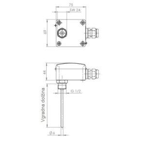 Modbus Screw-In Immersion Temperature Sensor ANDENTF-MD 2