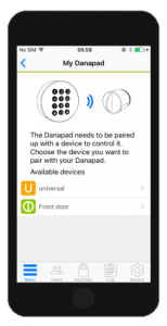 Danapad Smart Keypad Access App 1