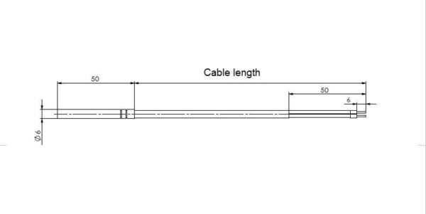 MODBUS Cable Temperature Sensor – ANDKBTFMD - Technical Image