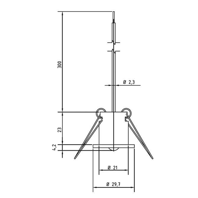 Modbus Ceiling Mounted Temperature Sensor ANDDEBFMD technical