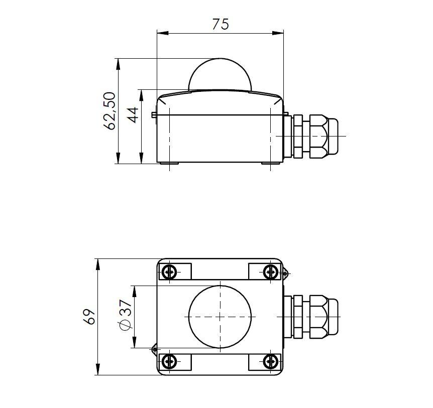 Modbus Outdoor Radiation Sensor ANDASTFMD technical