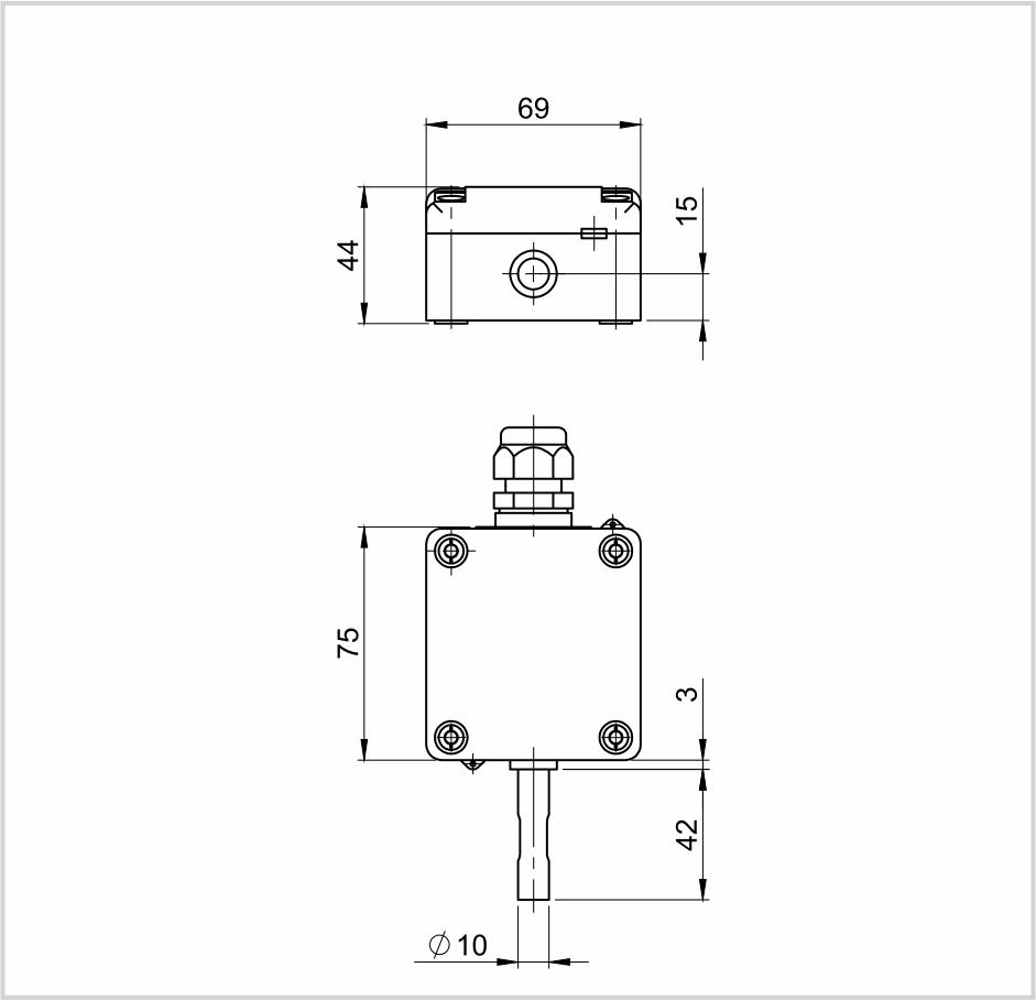 Modbus Outdoor Temperature Sensor with Sun Protection ANDAUTFEXT2MD technical