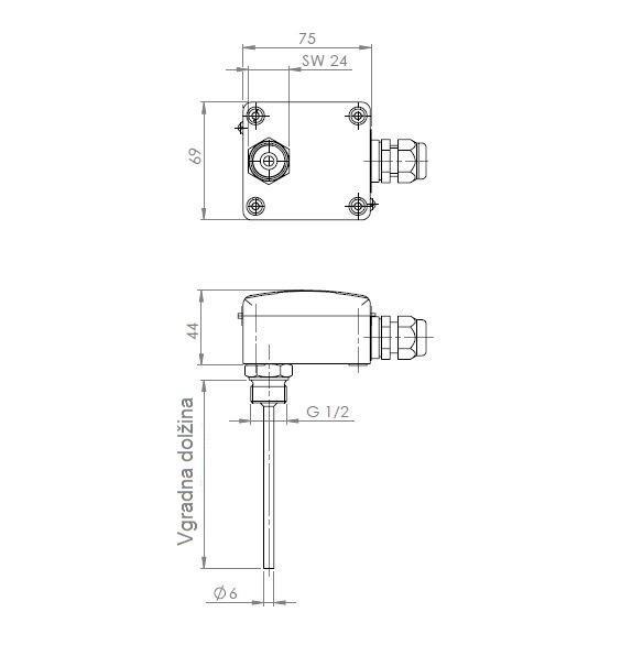 Modbus Screw-In Immersion Temperature Sensor ANDENTFMD technical