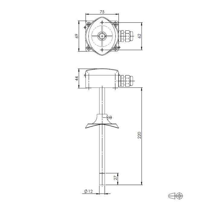 Duct Relative Humidity and Temperature Sensor ANDKFFTR-XS technical